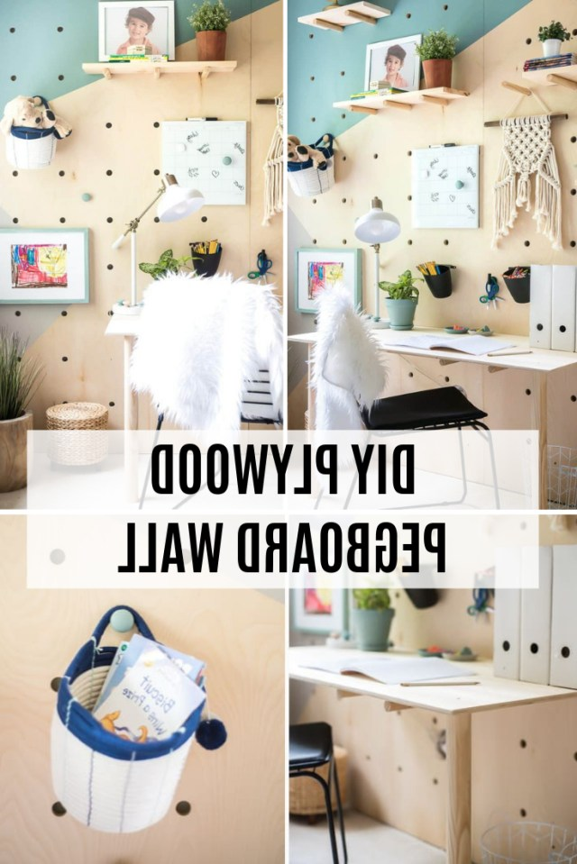 Diy Plywood Pegboard Wall So Cool And Chic Home Decor