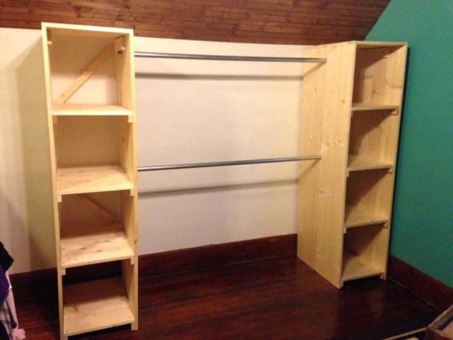 Diy Wardrobe Armoire Plans Standing Closet Ideas How To
