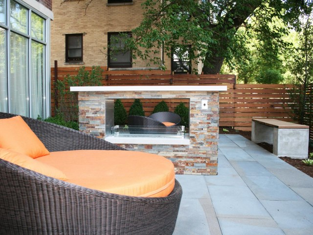 Double Sided Indoor Outdoor Fireplace Design Ideas Ann