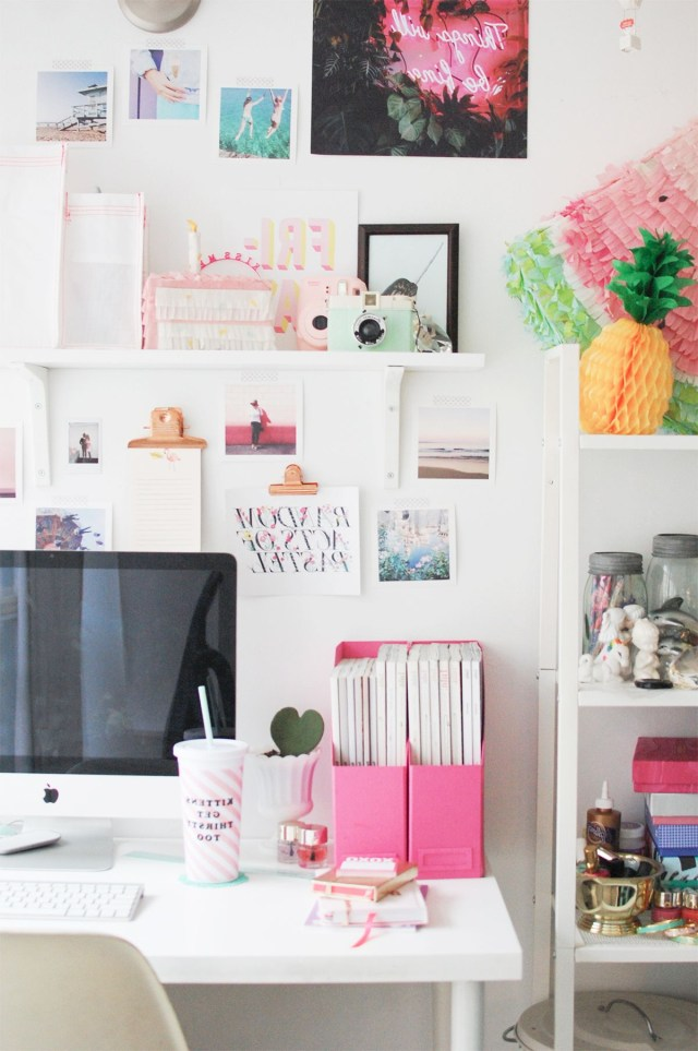 Dressing Up My Desk With Birchbox Home Office Decor