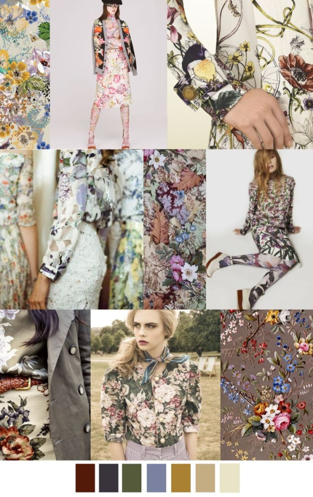 English Garden Fashion Mood Board Trend Color With