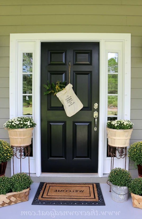 Fall Inspired Front Porch Tour Front Door Paint Colors