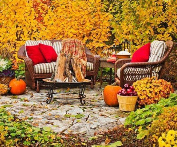 Fall Relaxing Place Fall Patio Patio Decor Fall