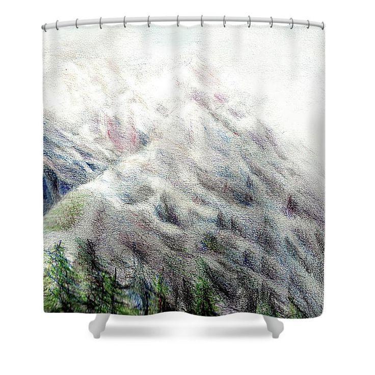 Fantasy Mountains Art Print Shower Curtainunique Ideas