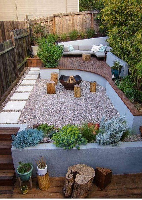 Fencing Around Plant Base Small Backyard Decks
