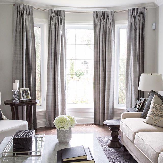 Fentre Traitements De Bow Window Salon Lgant Dco