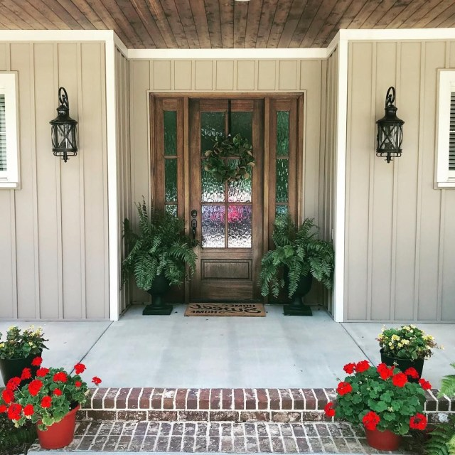 Ferns And Flowers Are A Summer Porch Must Have Dont You