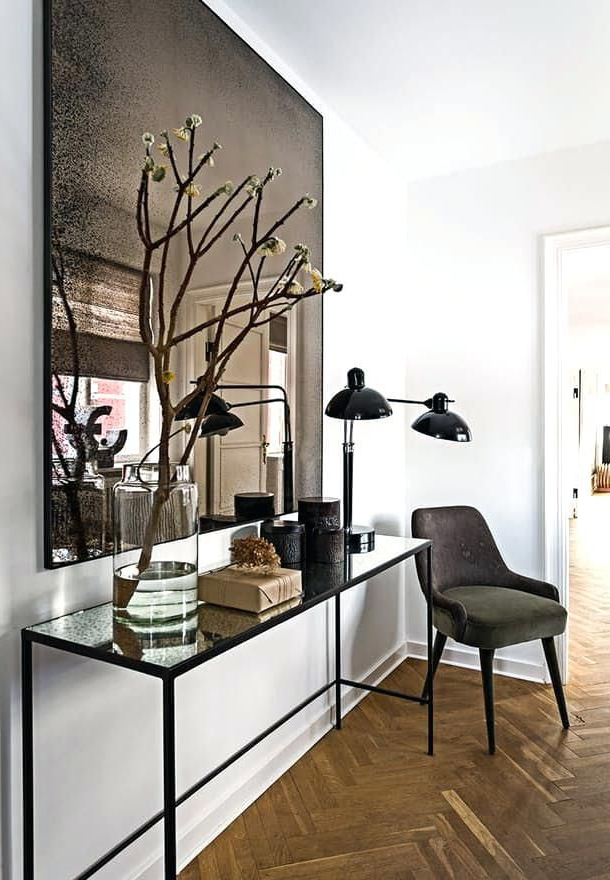 Foyer Mirrors And Tables Contemporary Foyer Mirrors