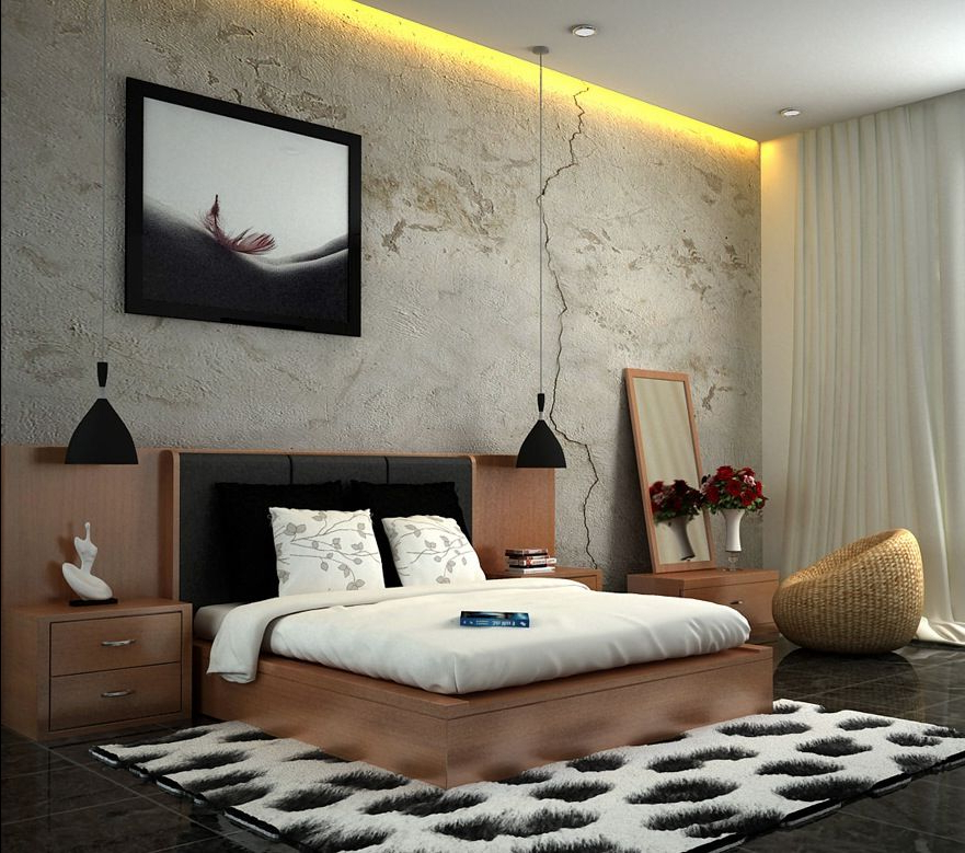 Fresh And Classy Bedrooms Image 02 White Brown Black