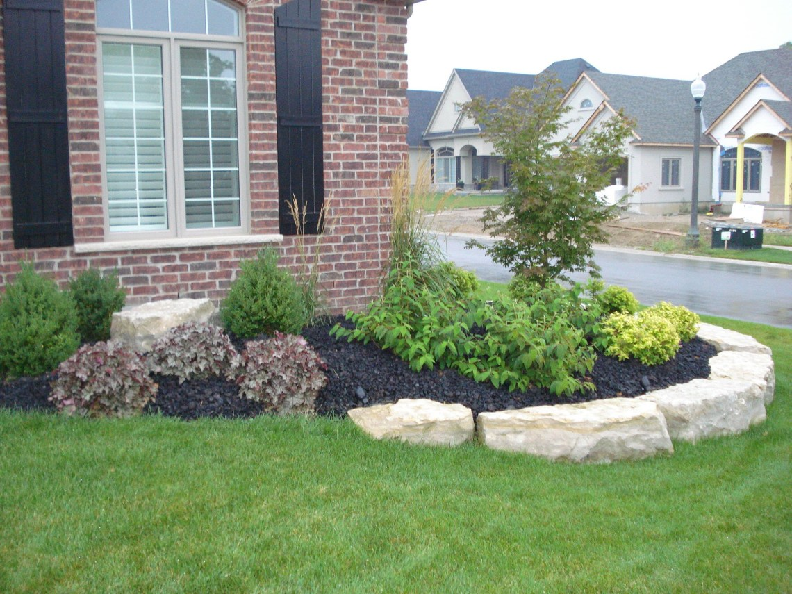Front Flower Bed Landscaping Ideas How Much Does