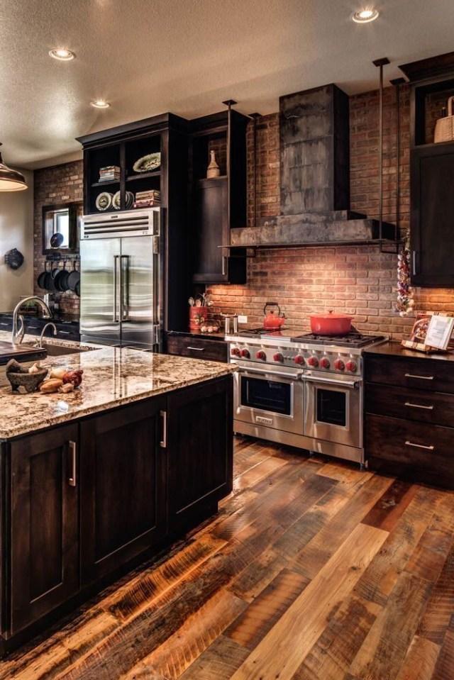 Gorgeous 44 Inspiring Wood Hood Kitchen Makeover Ideas