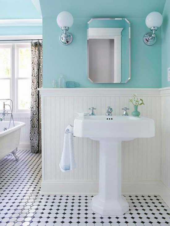 Gorgeous Tiffany Blue Bathroom So Clean And Sleek