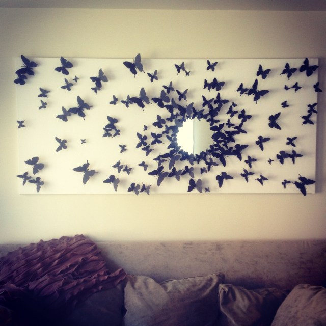 Gossip Girl Inspired Butterfly Wall Art Finally Finished