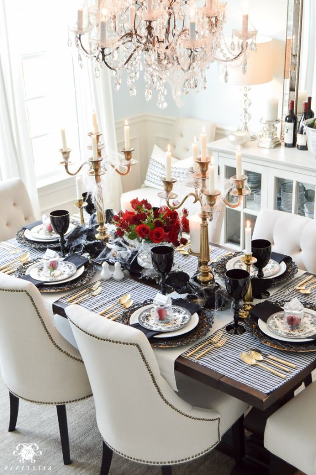 Gothic Dinner Party For Halloween Elegant Dining Room