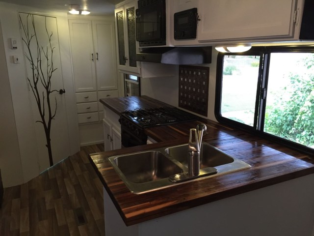 Hand Crafted Butcherblock Countertops For Rv Mga Custom