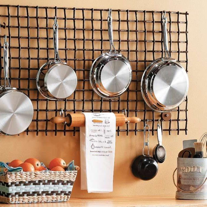 Hanging Kitchen Wall Grid Kitchen Wall Storage Kitchen