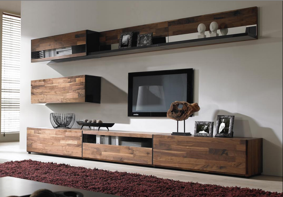 Hanging Shelf With Hanging Cabinetswooden Tv Stand