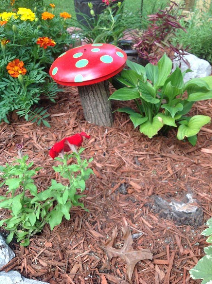 Homemade Mushroom Garden Decorations Garden Mushrooms