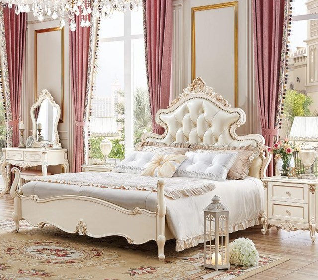 Hot Sale Luxury Italian Bed Classic Antique Bed Europe