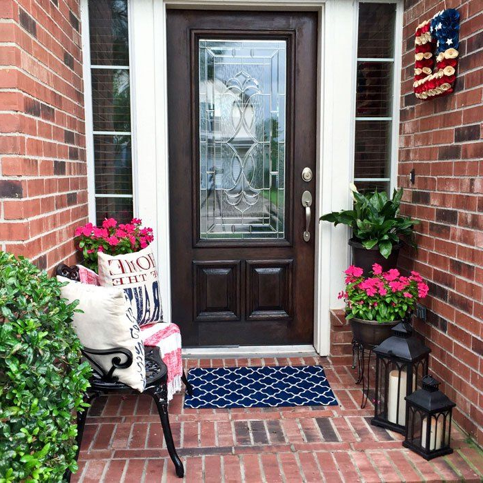 How To Decorate A Small Front Porch Summer Porch Decor