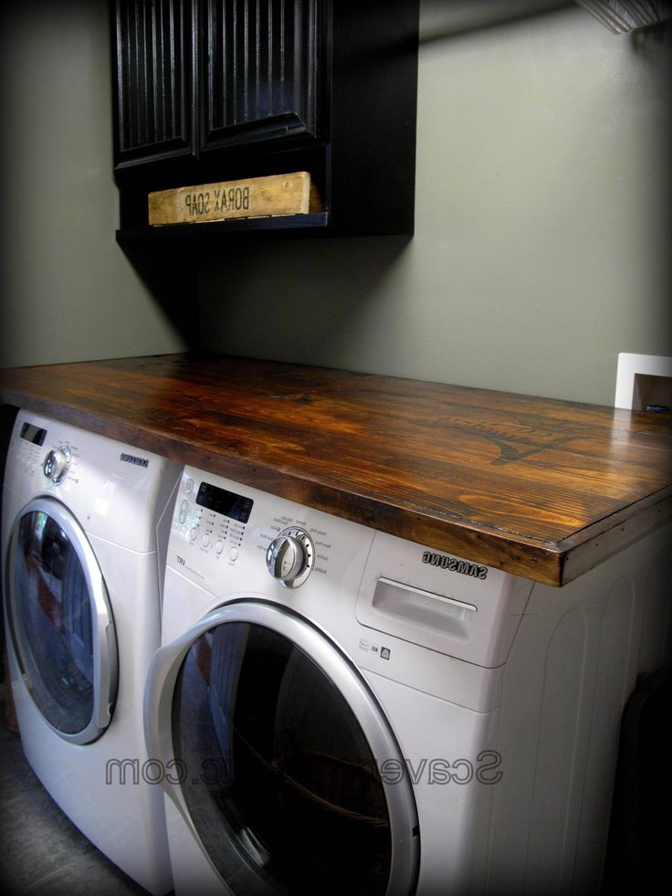 How To Make Your Own Laundry Wood Countertop Laundry