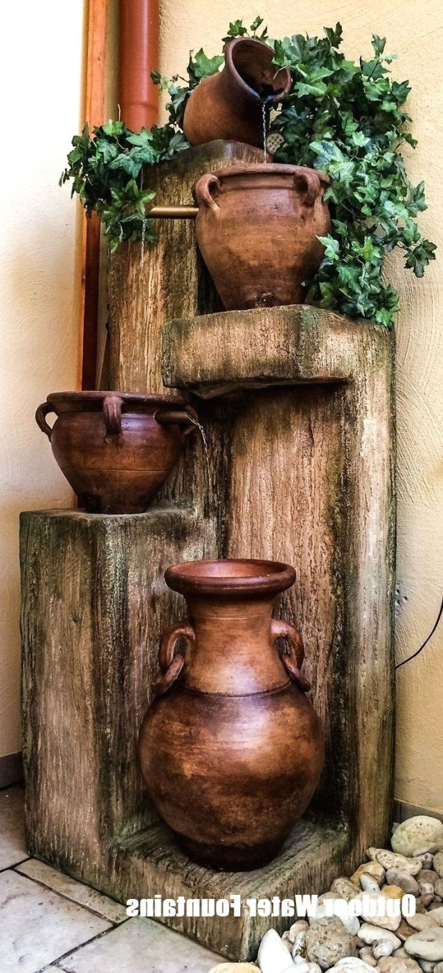 Ideas To Make Your Own Outdoor Water Fountains Diy
