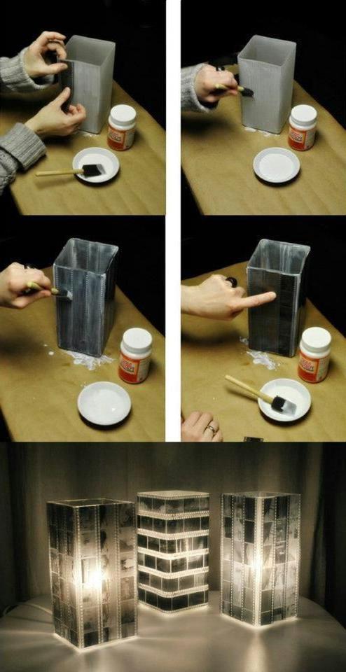 Idejas Un Diy Photo Lamp Crafty Home Crafts
