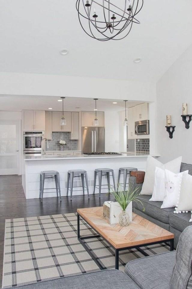 Incredible Open Plan Kitchen Living Room Design Ideas 9