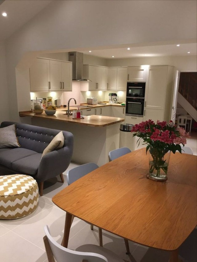 Incredible Open Plan Kitchen Living Room Design Ideas20