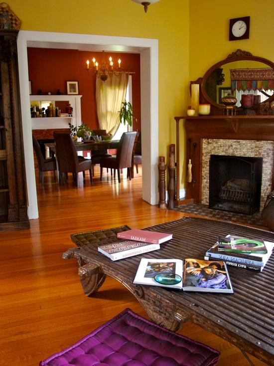 Interesting Yellow Living Room Design Ideas