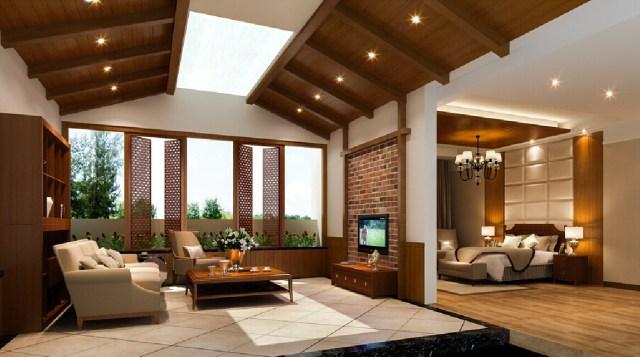 Interior Design Living Room Bedroom Modern American Style