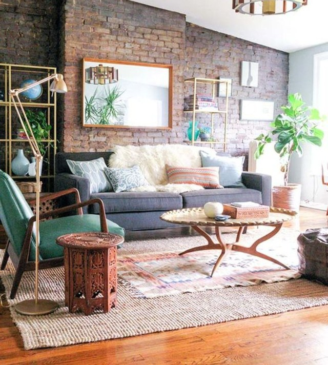 Interior Design Style Quiz Exposed Brick Walls Living