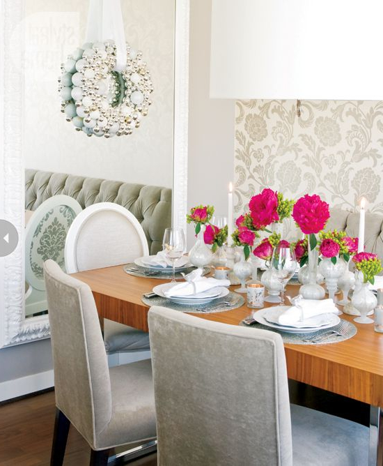 Interior Glitz And Glam Holiday Style Dining Room Style
