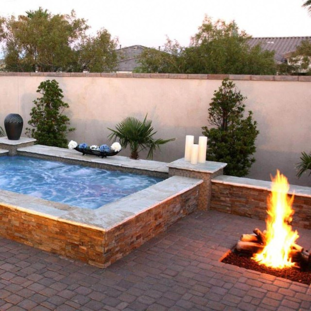 Jacuzzi Fire Pit Hot Tub Backyard Backyard Fire