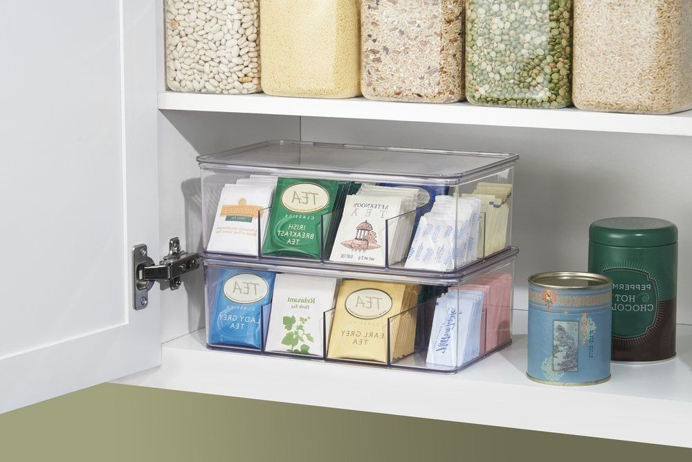 Kitchen Organizer Tea Rack Bag Box Holder Cabinet Display