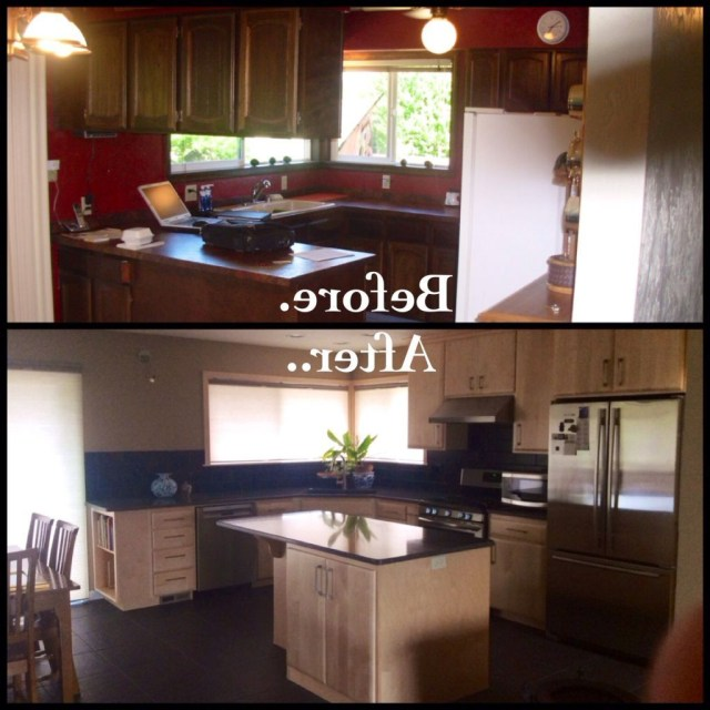 Kitchen Remodel Before And After On A Budget Kitchen
