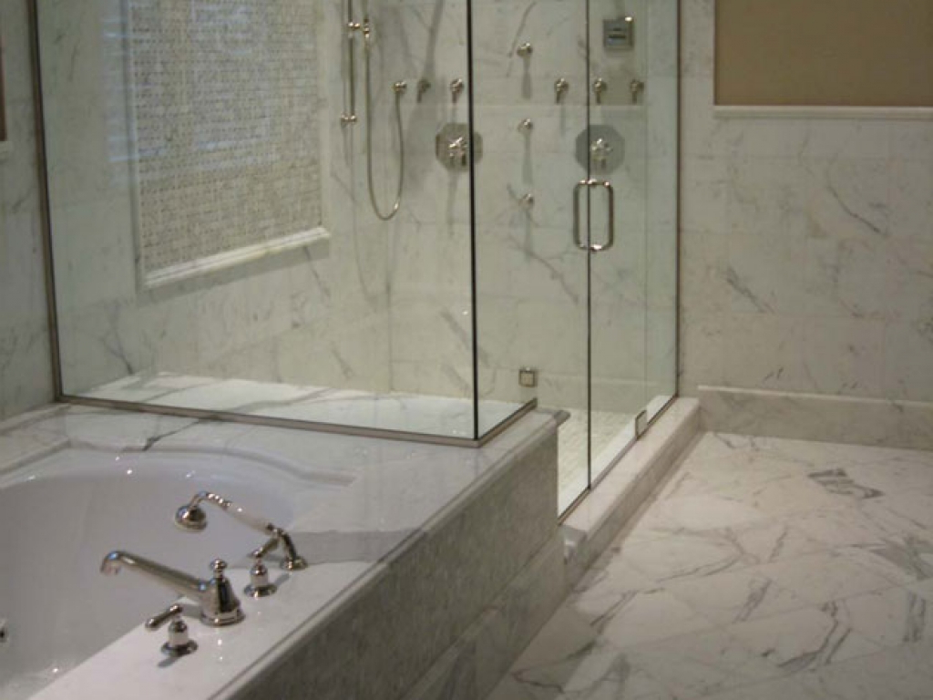 Large Bathroom Wall Mirror White Marble Bathroom Shower