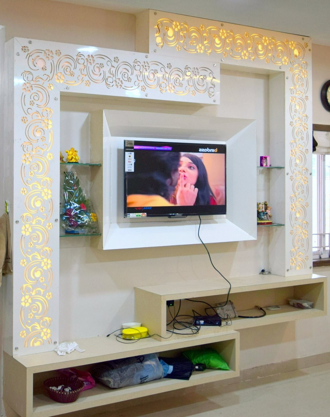 Lcd Painale Tv Wall Design False Ceiling Design