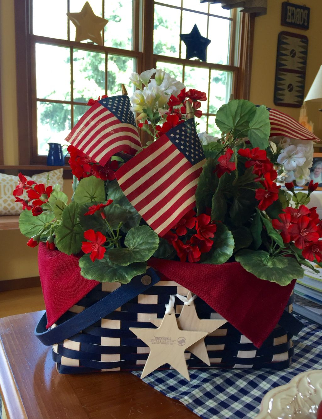 Longaberger For A Patriotic Look 4th Of July Fourth Of