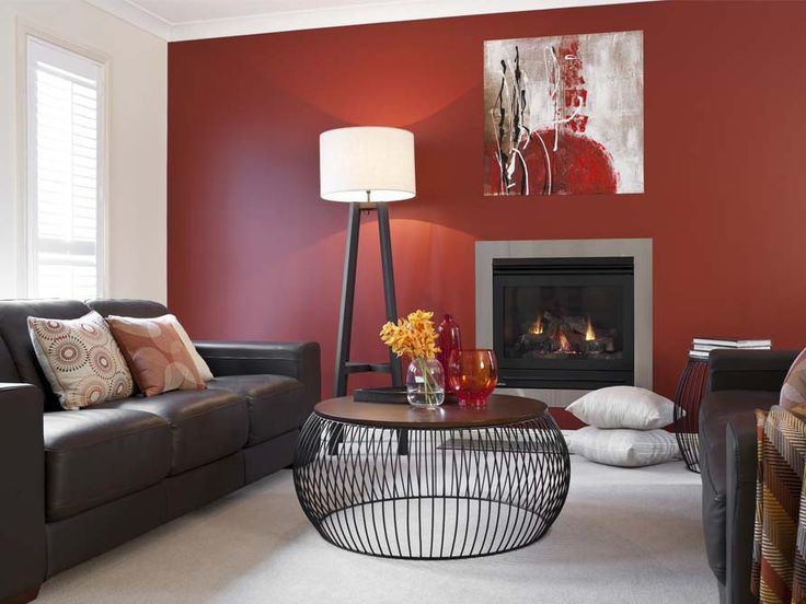 Lounge Room Red Feature Wall Sheerpassion Whiteswan