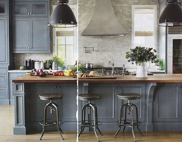 Love The Grey Cabinets And Butcherblock Painted Kitchen