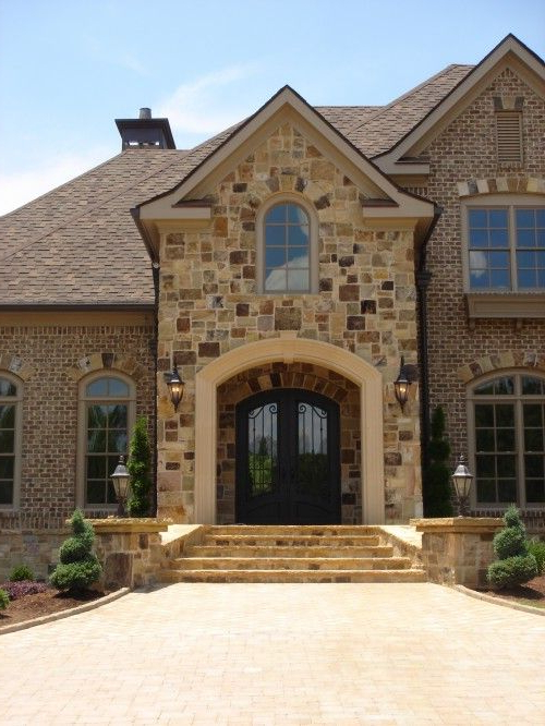 Love This Rock And Brick For The Exterior This Is What My