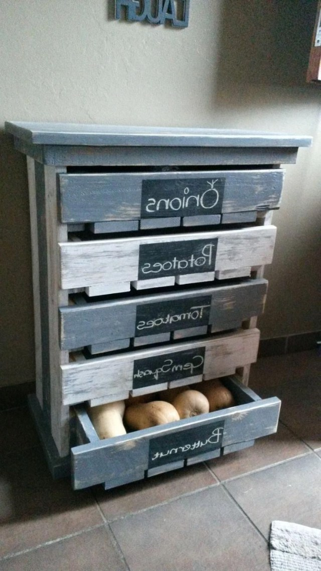 Made This 5 Draw Veggie Fruit Storage Rack For My Wife