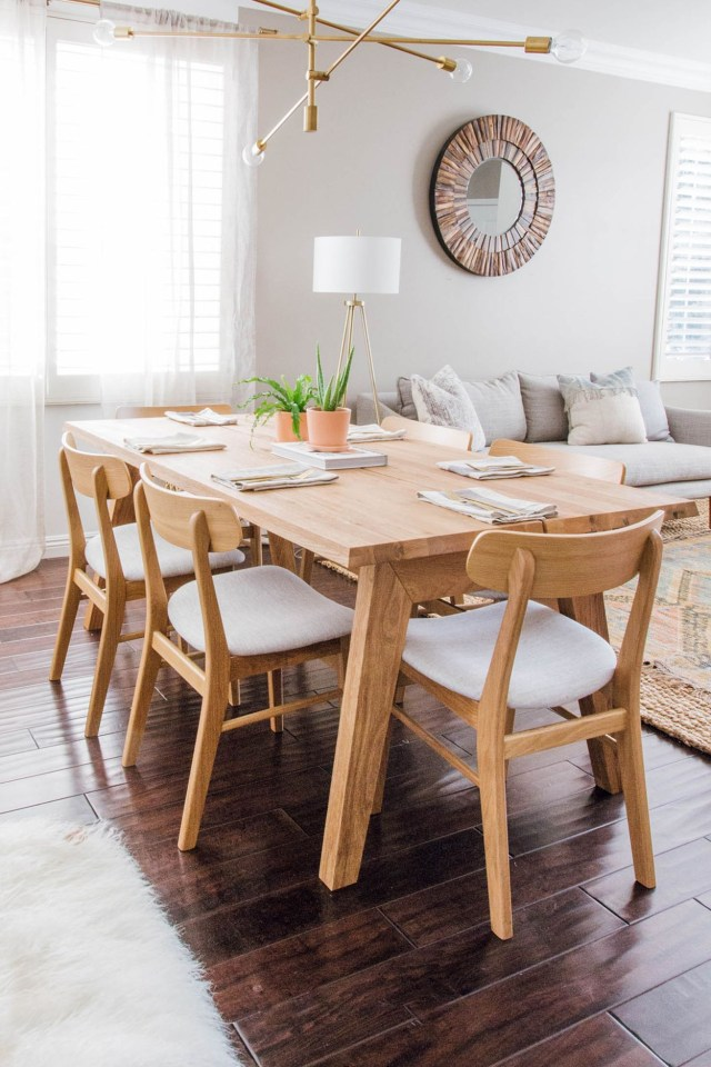 Madera Oak Dining Table For 6 Oak Dining Table