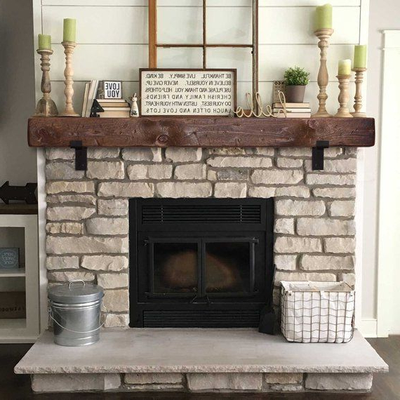 Mantel With Metal Brackets Fireplace Mantel 6x6 Mantle