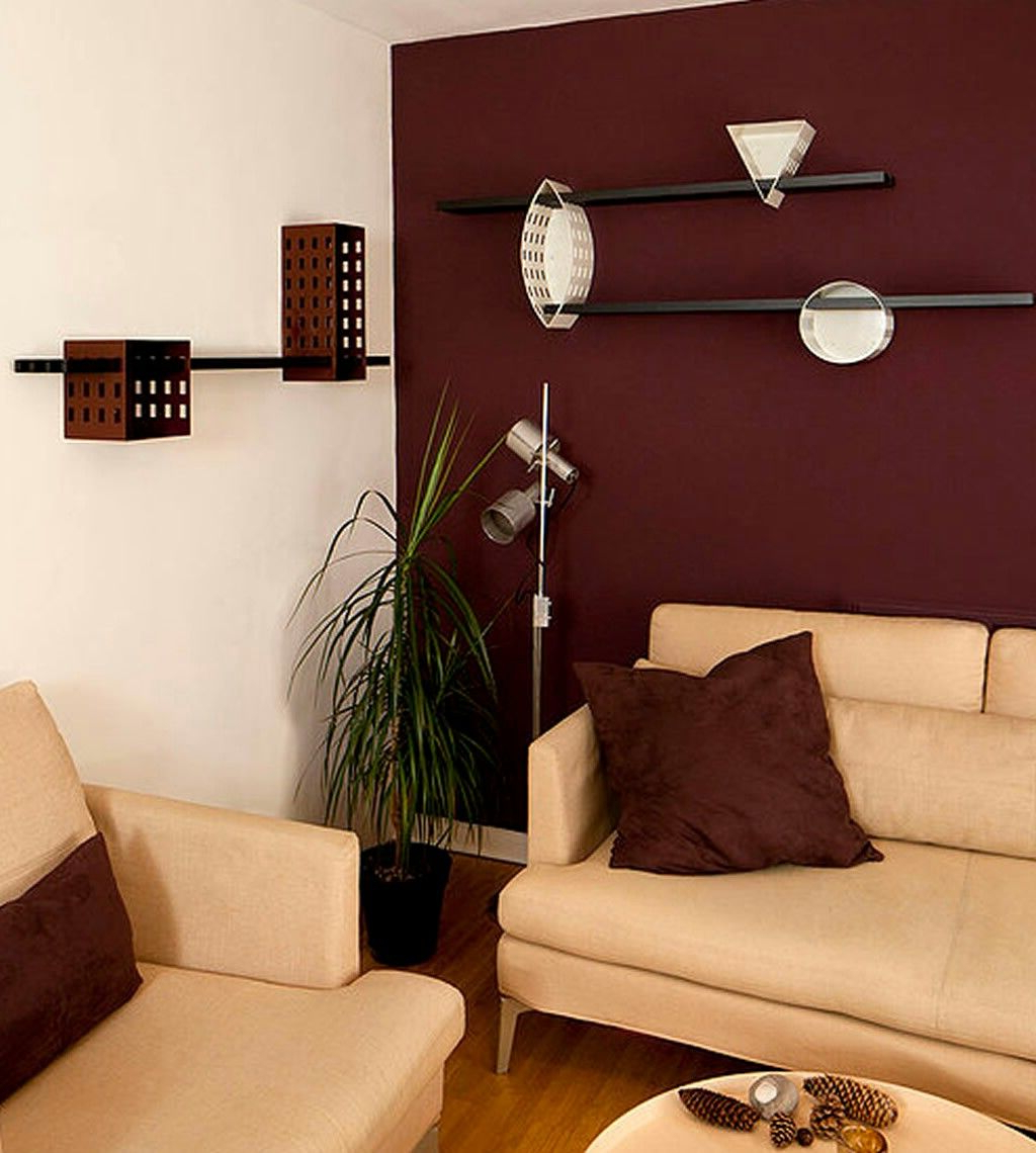 Maroon Wall Modern Living Room Maroon Room Burgundy