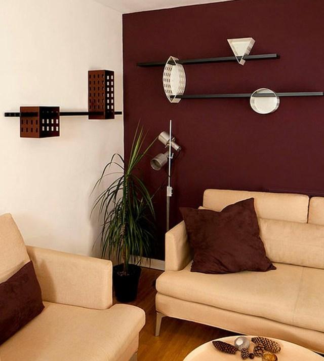 Maroon Wall Modern Living Room Maroon Room Burgundy