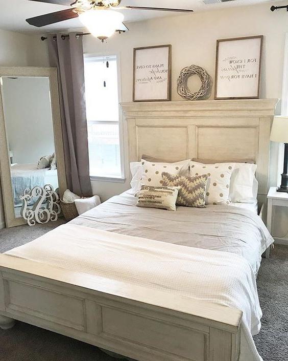 Marsilona Queen Panel Bed White Farmhouse Bedroom Decor