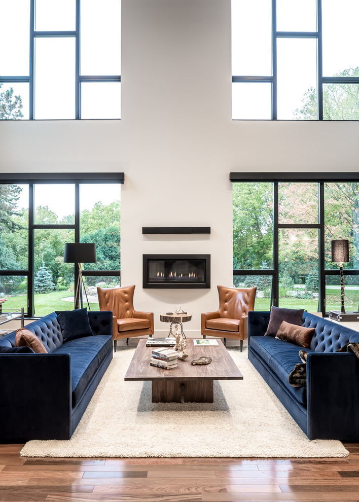 Maximizing The Beauty Of Your Living Room Using Blue Sofa Decohoms