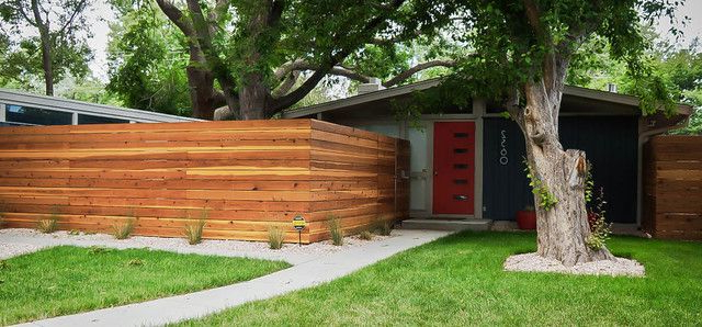 Mid Century Modern Fence And Denver Modern Fence Fencing